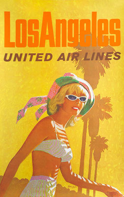 Stan Galli - UAL - Los Angeles - Vintage Modernism Poster