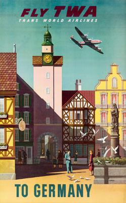 TWA - To Germany - Simon Greco - 1952