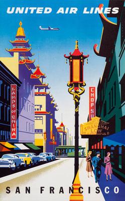 Joseph Binder - UAL - San Francisco - Vintage Modernism Poster