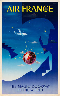Air France - The Magic Doorway to the World - Badia Vilato - 1951
