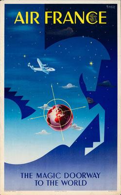 Air France - The Magic Doorway to the World - Badia Vilato - 1951