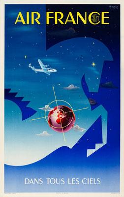 Air France - Dans tous les ciels - Badia Vilato - 1951