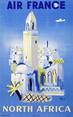 Air France - North Africa - Bernard Villemot - 1948(?)