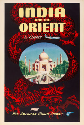 Pan American World Airways - India and the Orient by Clipper - 1950s