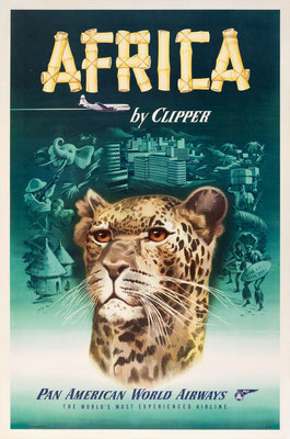 Pan American World Airways - Africa by Clipper - 1950s