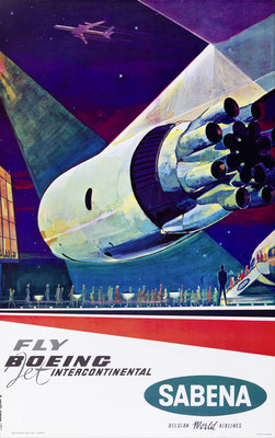 Gaston vanden Eynde - Sabena - Fly Boeing International - Original Vintage Poster (Modernism)