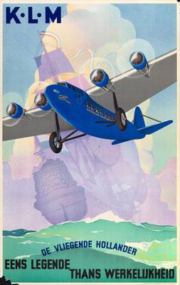 KLM - De Vliegende Hollander Eens Legende thans Werkelijkheid - Jan Wijga -1933