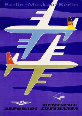 Deutsche Lufthansa GmbH (GDR) / Aeroflot - Berlin—Moskau—Berlin - Bormann