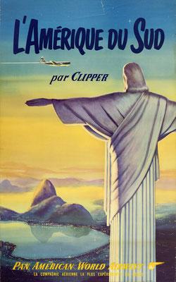 Pan American World Airways - L'Amerique du Sud par Clipper - 1950s