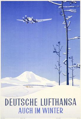 Deutsche Lufthansa - Auch im Winter - Ottomar Anton - 1935