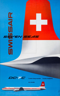 Swissair - Seven Seas DC-7C - Kurt Wirth - 1956