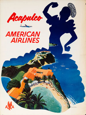 American Airlines - Acapulco - Fred Ludekens - 1950s