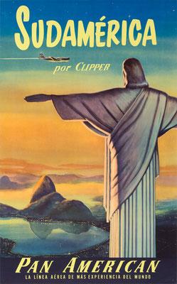 Pan American World Airways - Sudamérica por Clipper - 1950s