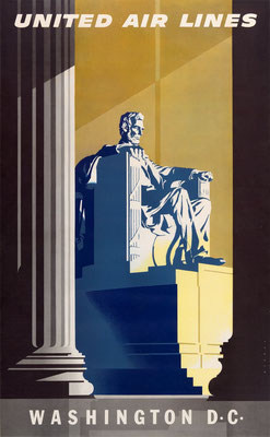 United Air Lines - Washington D.C. - Joseph Binder - 1957