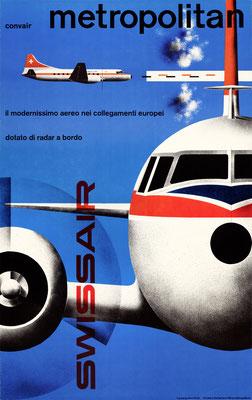 Swissair - convair metropolitan - Kurt Wirth - 1956