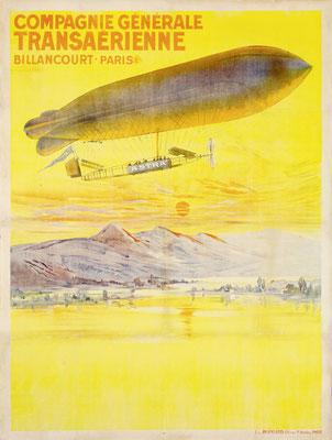 Compagnie Générale Transaérienne - Billancourt · Paris - 1909 or 1910 - XXL Poster: 121 cm x 160 cm !
