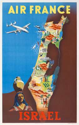 Air France - Israel - Renluc - 1951