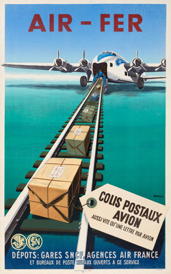Air-Fer - Colis Postaux Avion aussi vite qu'une lettre par avion - Renluc - 1949