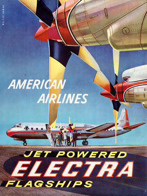 American Airlines - Jet Powered Electra Flagships - Walter Bomar - 1959