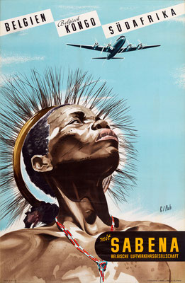 SABENA - Belgien Kongo Südafrika - Marcel Cros - 1950s