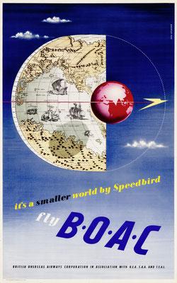 BOAC - Beverley Pick - It's a smaller world by Speedbird - 1950s