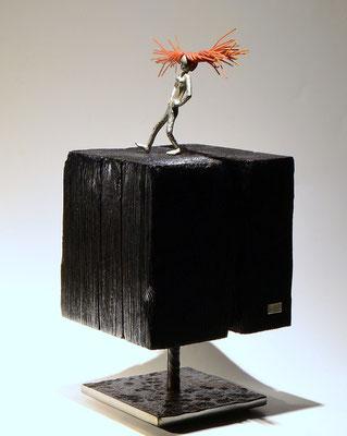 silber skulptur ms longstocking von Holger Schulz Schweden Frau Langstrumpf