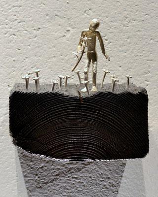 silver och trä skulptur wedding anniversary av Holger Schulz Småland