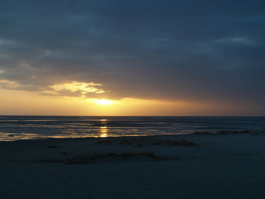 Abendlicht über dem Meer