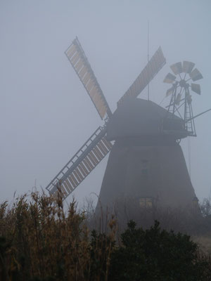 Mühle in Nebel