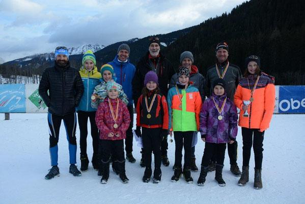 Teilnehmer für den LRC Lienzer Dolomiten am Silvesterlauf 2018 in Obertilliach (nicht im Bild: Nico und Robert)