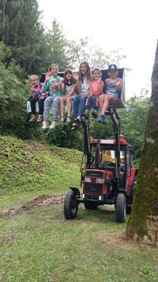 kostbare Traktor-Schaufel-Fracht
