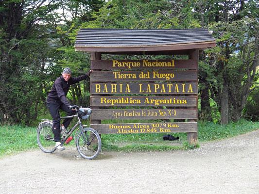 Bahia Lapataia - die südlichste Straße der Welt endet hier
