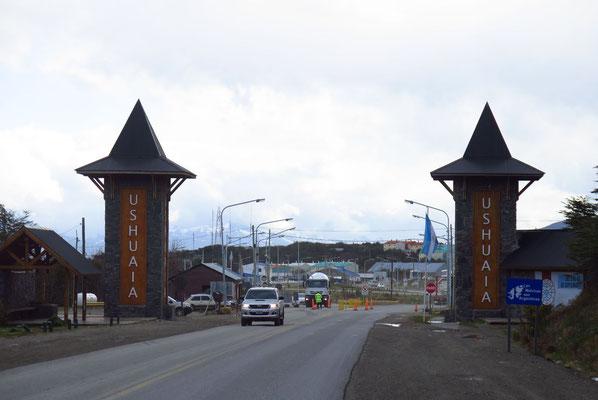 Ankunft in Ushuaia - südlichster Ort der Erde