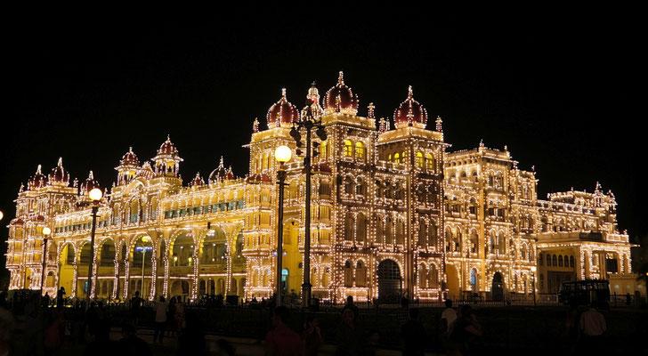 Amba Vilas Palace in Mysore - Karnataka