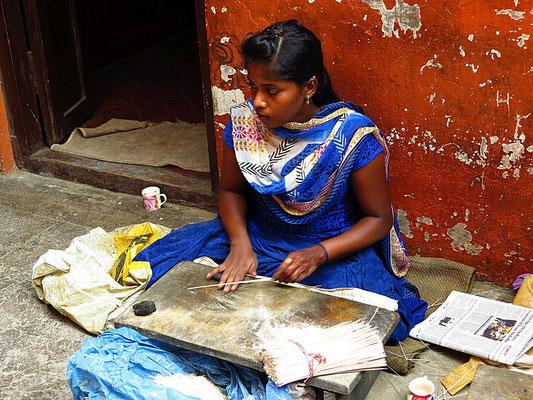 Herstellung von Räucherstäbchen