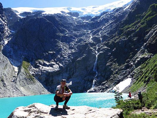 Am Queulat-Gletscher