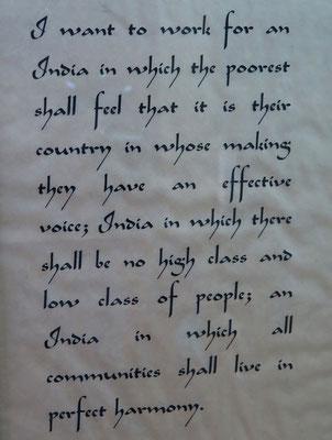 Mahatma Gandhi Vermächtnis