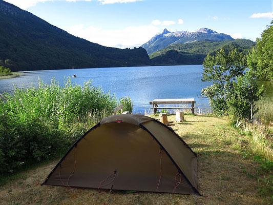 Übernachtungs-Platz am Lago Lonconao