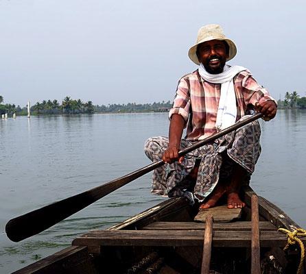 Die Backwaters von Allapuzha . Kerala