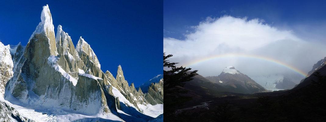 Der Cerro Torre hat sich an diesem Tag leider versteckt.