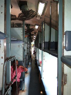 First Class Sleeper im Zug.