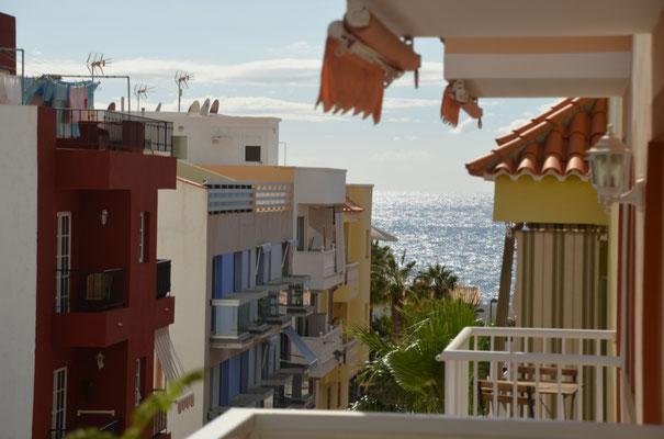 Der Blick aus unserer Unterkunft in Playa San Juan