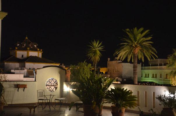 Dachterrasse unseres Hotels