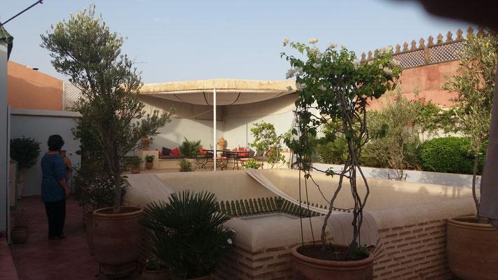 Dachterrasse des Riad