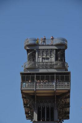 die Aussichtsplattform des Elevator wollen wir am nächsten Tag besuchen