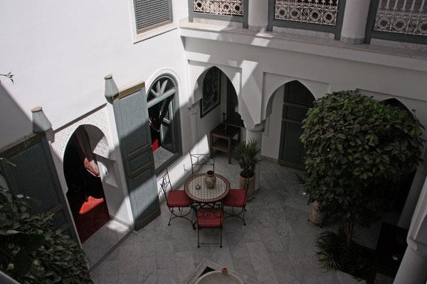 Innenhof des Riad Mirage, in dem wir frühstückten