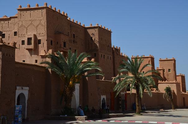 die Kasbah Taourirt, teilweise restauriert