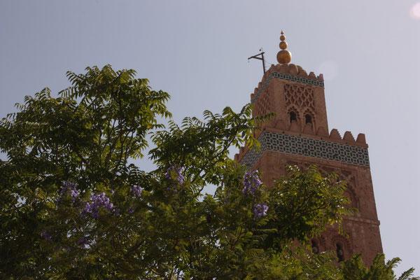 Das Minarett der Koutoubia-Moschee ist das Wahrzeichen der Stadt und des ganzen Landes
