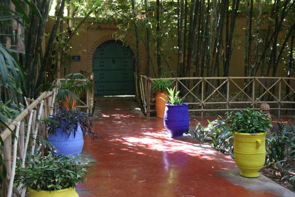 Der Jardin Majorelle ist ein botanischer Garten in Marrakesch