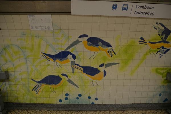 in der Metrostation Zoologischer Gaten